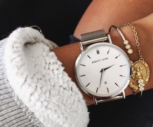 girl, jewelry, and watch image