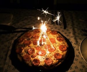 pizza, food, and birthday image