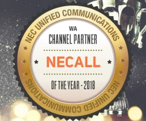 nec award, necall, and uc channel partner image