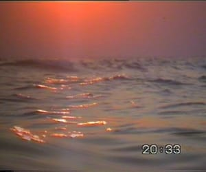 ocean, sunset, and theme image
