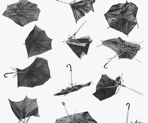umbrella, art, and illustration image