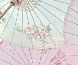 beautiful, pastel, and umbrella image