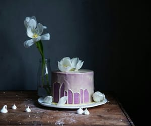 cakes, flowers, and funny image