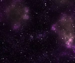 background, purple, and stars image