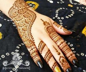 henna, mehendi, and mehndi design image