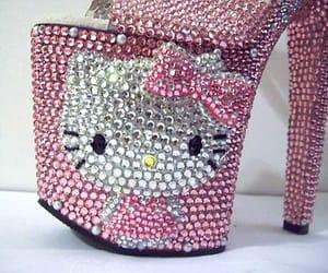 heels and hello kitty image
