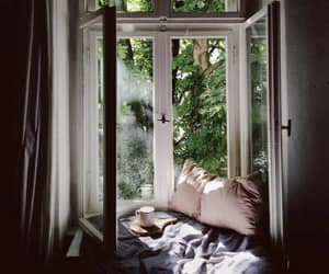home, window, and bedroom image