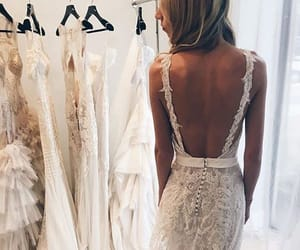 bride, dress, and beauty image