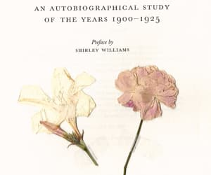 book, flowers, and books image