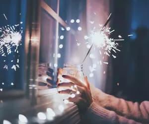 christmas, navidad, and firework image