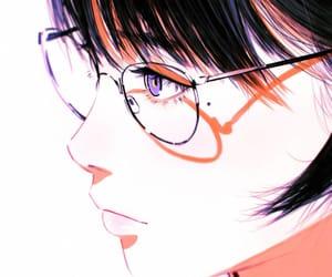 art, beautiful, and glasses image