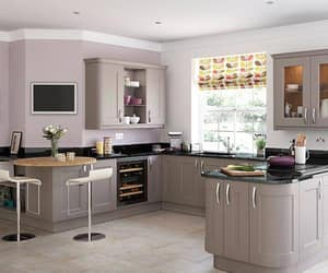 kitchen appliances, kitchen accessories, and solid woods worktops image
