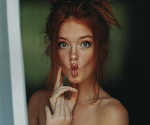 beauty, ginger, and ginger hair image