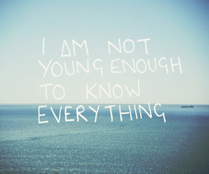 quote, young, and sea image