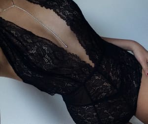black, lingerie, and lace image