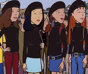 Daria, girl, and black image
