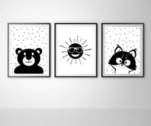 animals, baby room, and black and white image