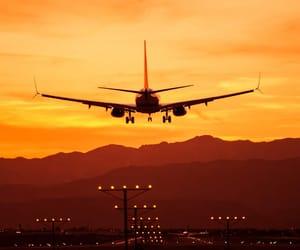 aircraft, runway, and planes image