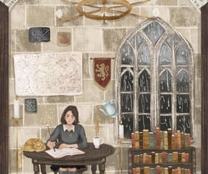 art, book, and gryffindor image
