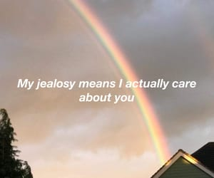 about, jealousy, and rainbow image