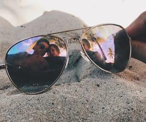 beach, boyfriend, and palm trees image