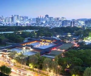 korea, lights, and night lights image
