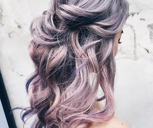 colores, purple, and hair image