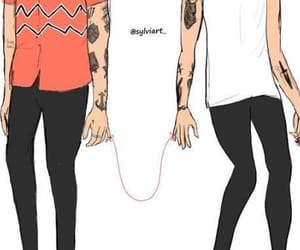 louis tomlinson, Harry Styles, and hilo rojo image