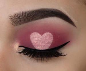 eye, makeup, and eyebrow image