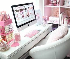 room decor, pink, and pink room image