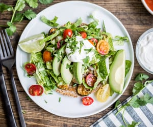avocado, bean, and breakfast image