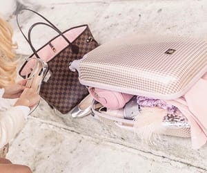 fancy, luggage, and girly image