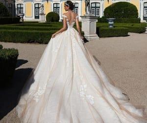 bridal, dress, and girl image