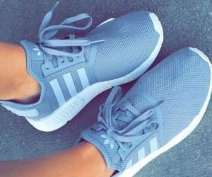 adidas, blue, and pretty image