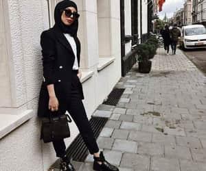 black, noir, and hijab image