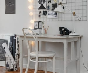 room, light, and desk image