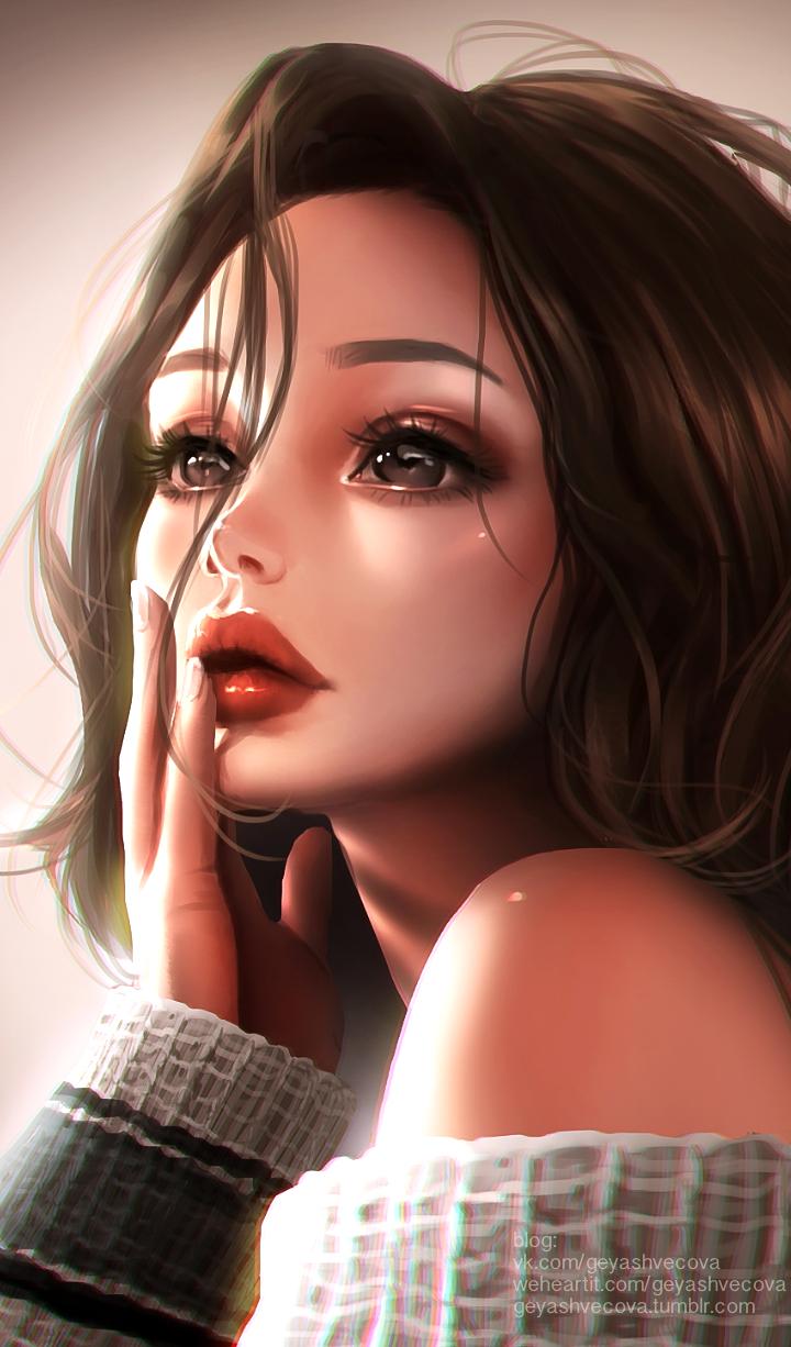 Beautiful Beautiful Girl Beauty Cartoon Colorful Design