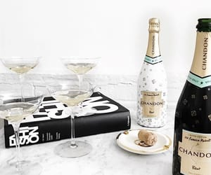 book, champagne, and lovely image