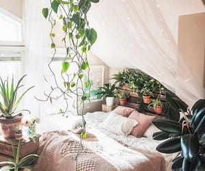bed, boho, and home image