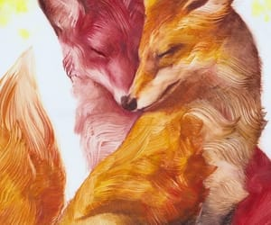 fox, foxes, and fox art image