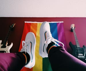 pride, shoes, and vans image