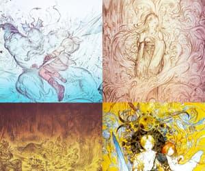 final fantasy, Yoshitaka Amano, and yuna image