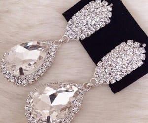 earrings, diamond, and luxury image