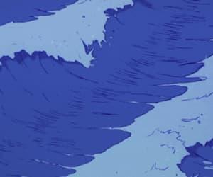 gif, anime, and blue image