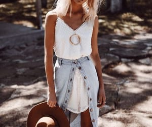 boho, summer look book, and fashion image