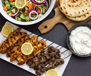 food, greek, and meat image