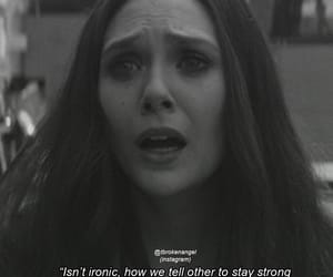 broken, sad quotes, and being strong image