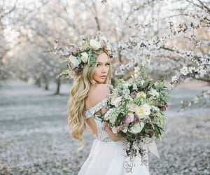 blonde, fashion, and nature image