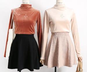 clothes, korean fashion, and skirt image