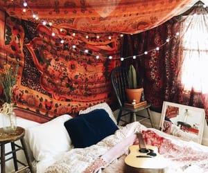 bedroom, home, and boho image